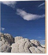 White Pocket In The Vermillion Cliffs Wood Print