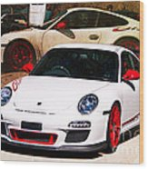 White Porsche Gt3rs Wood Print