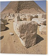 White Pyramid Of King Snefru Wood Print