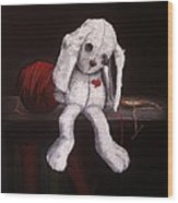 White Rabbit Wood Print
