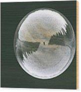 White Reflections Wood Print
