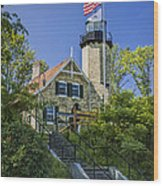White River Lighthouse In Whitehall Michigan No.057 Wood Print