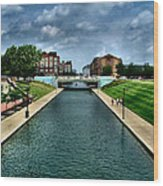 White River Park Canal In Indy Wood Print by Julie Dant