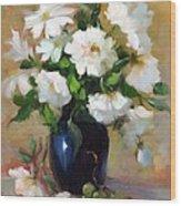 White Rose Elegance Wood Print