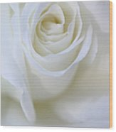 White Rose Floral Whispers Wood Print