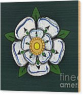 White Rose Of York Wood Print