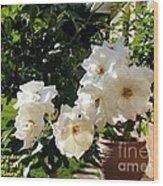 White Roses H A Wood Print