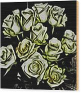 White Roses - Moving On Wood Print