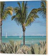 White Sails. Mauritius Wood Print