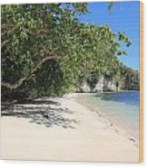 White Sand And Blue Sky Wood Print