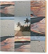 White Sand And Fire Water By Julia Fine Art  Wood Print