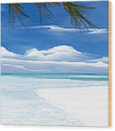 White Sand And Turquoise Sea Wood Print