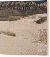 White Sand Below Wood Print