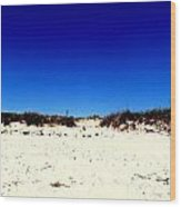 White Sand Blue Skies Wood Print