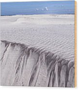 White Sand Wood Print by Frits Selier