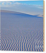 White Sand Patterns New Mexico Wood Print by Bob Christopher