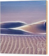 White Sands Abstract Wood Print