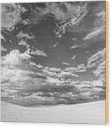 White Sands Drama Wood Print