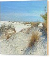 White Sands Foliage Wood Print by John Kelly