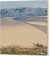 White Sands Morning #1 - New Mexico Wood Print