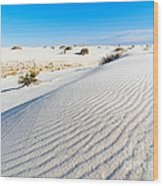 White Sands - Morning View White Sands National Monument In New Mexico. Wood Print