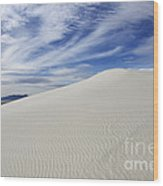 White Sands National Monument Big Dune Wood Print by Bob Christopher