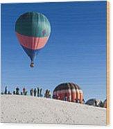 White Sands New Mexico Balloon Festival Wood Print