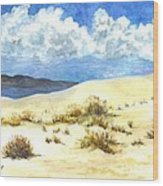 White Sands New Mexico U S A Wood Print