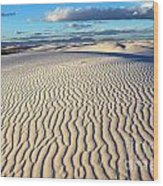 White Sands Of New Mexico Wood Print