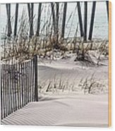 White Sands Of Pensacola Beach Wood Print