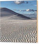 White Sands Patterns Wood Print