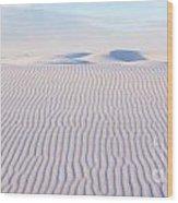 White Sands Serenity Wood Print