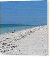 White Sandy Beach Wood Print