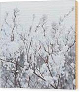 White Silence Wood Print