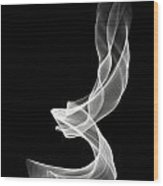 White Smoke Wood Print