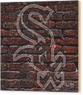 White Sox Baseball Graffiti On Brick  Wood Print by Movie Poster Prints