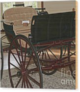 White Spring Carriage Wood Print