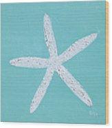 White Starfish Wood Print