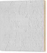White Stucco Wood Print