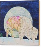 White Tatanka Wood Print
