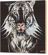 White Tiger 1 Wood Print