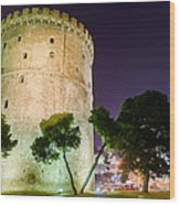 White Tower In Salonica Greece Wood Print