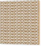 White Triangles On Burlap Wood Print