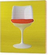 White Tulip Chair. Wood Print