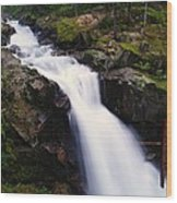 White Water Falling  Wood Print