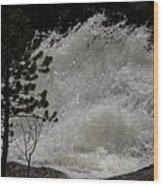 White Water Wood Print