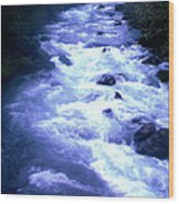 White Water Wood Print by J D Owen