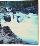 White Water On The Ohanapecosh River  Wood Print