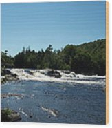 White Water On The West Branch Wood Print