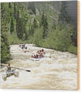 Animas River White Water Rafting The  Wood Print